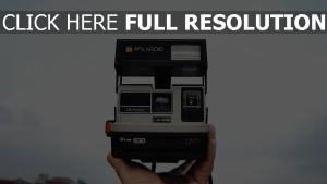 hand stil kamera polaroid