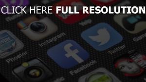 facebook twitter smartphone instagram