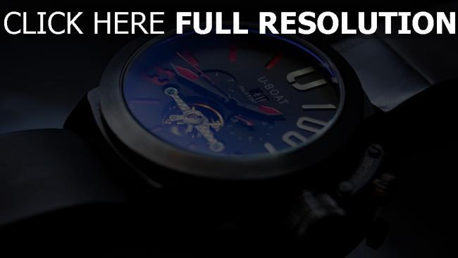 hd hintergrundbilder zifferblatt u-boat armbanduhr strap
