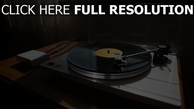 hd hintergrundbilder vinyl u-turn-plattenspieler player