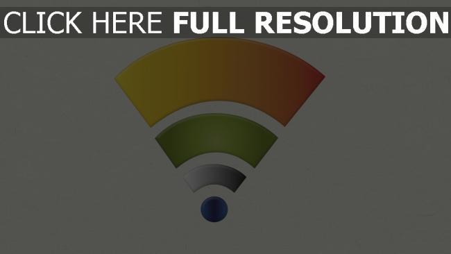 hd hintergrundbilder zeichen wi-fi logo