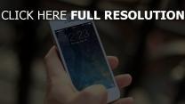 iphone apple hand smartphone