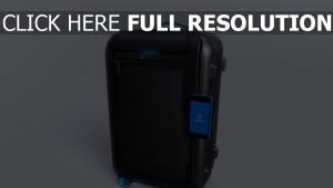 trolley intelligent smart gepäck gadget bluesmart