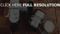 kamera objektiv getränke kaffee
