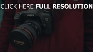 objektiv canon kamera fotograf