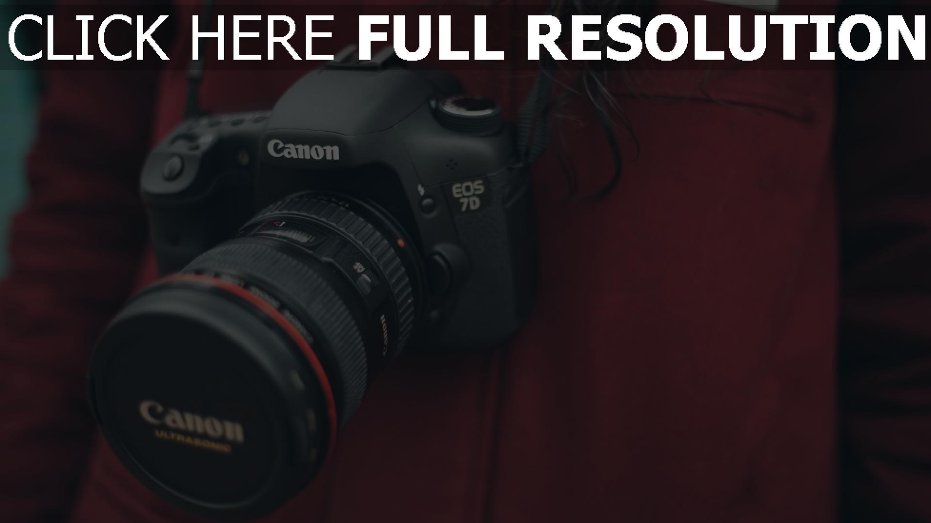 hd hintergrundbilder objektiv canon kamera fotograf 1920x1080