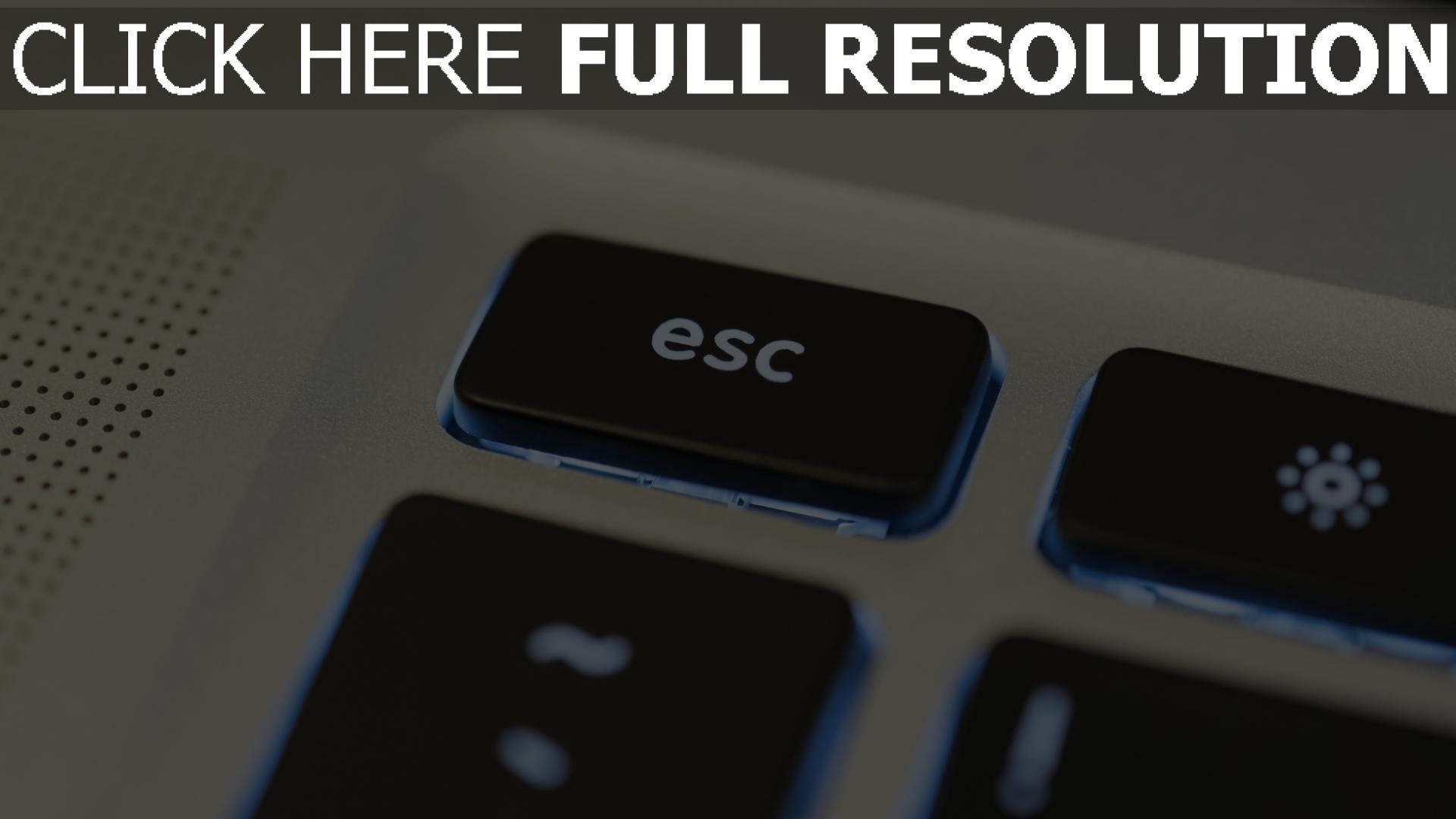 hd hintergrundbilder tastatur esc hintergrundbeleuchtung 1920x1080