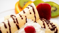 bananencreme schokolade erdbeere