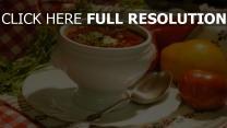 suppenschüssel suppe löffel pfeffersoup