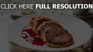 marmelade frühstück teller