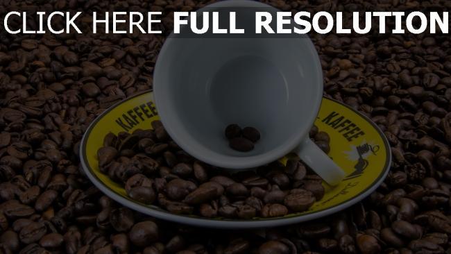 hd hintergrundbilder kaffeebohnen tasse untertasse