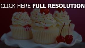 muffins kirsche sahne süßigkeiten