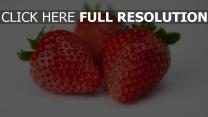erdbeeren nähe zoomen reif