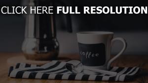 becher löffel kaffee serviette