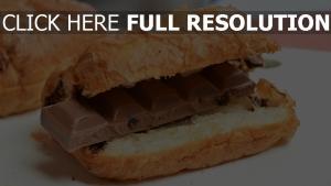 schokolade kekse croissants