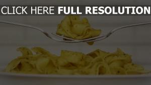 pasta gabel gewürze schüssel