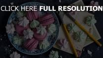 makronen baiser süßigkeiten karten