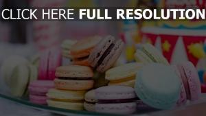 makronen süßigkeiten gebäck bunt
