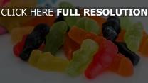 gummibären süßigkeiten gelees