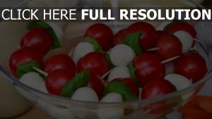 salat frühstück tomaten käse mozzarella