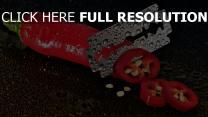 paprika wassertropfen klingen