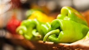 paprika gemüse korb bokeh