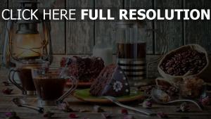 kuchen kaffee dessert kaffee bohnen tisch