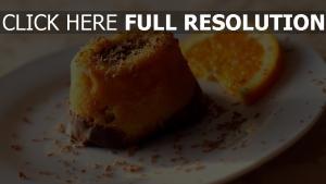 dessert gebäck schokolade orange