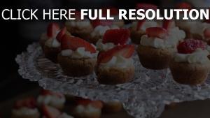 kuchen sahne erdbeeren dessert