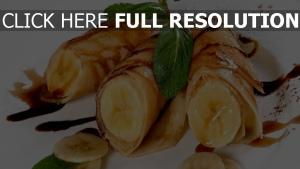 bananen pfannkuchen süßigkeiten desserts