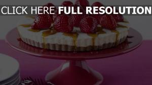 kuchen biskuit erdbeeren honig sahne