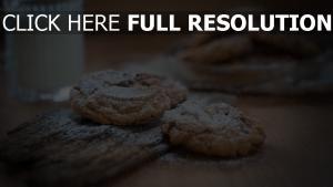 kekse zucker tisch milch glas