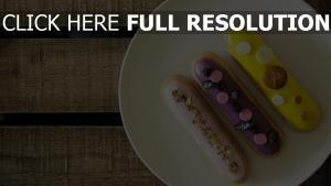 scones sahne vereisung teller dessert