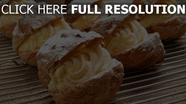 hd hintergrundbilder dessert sahne eclairs süßigkeiten