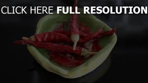 platte getrocknet chili pfeffer