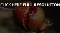 reif obst granatapfel