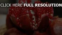 reif beeren früchte granatapfel