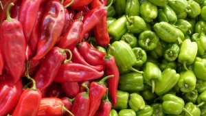 grün pfeffer paprika rot pfeffer gemüse