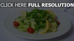 kirsche frisch tomaten zitrone kräuter salat