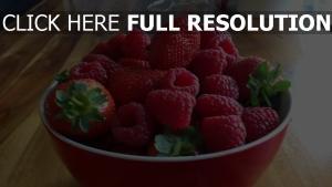 beere tasse himbeeren erdbeeren