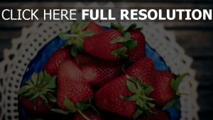 platte serviette beere erdbeere