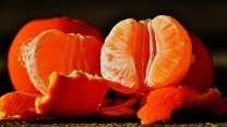 schälen obst mandarinen