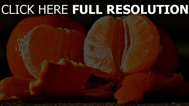 hd hintergrundbilder schälen obst mandarinen