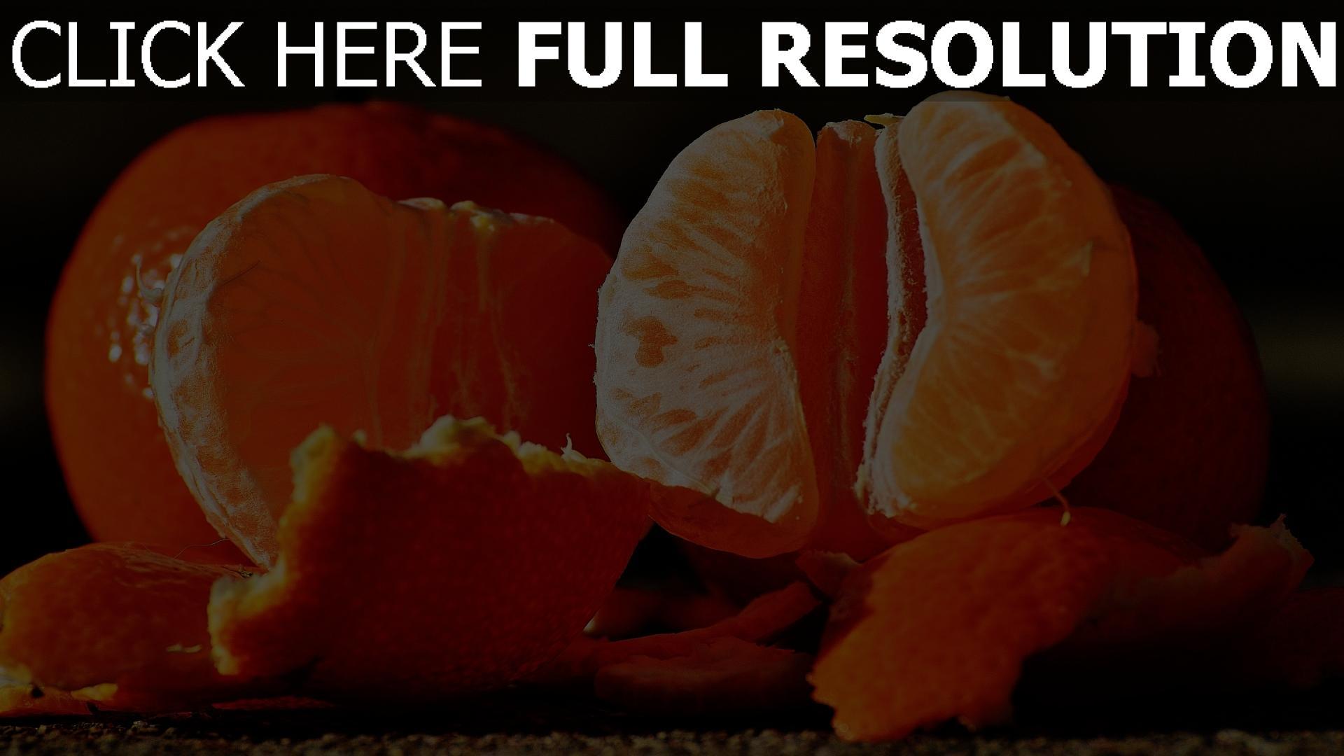 hd hintergrundbilder schälen obst mandarinen 1920x1080