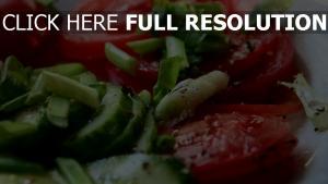 kräuter gurken butter salat tomaten