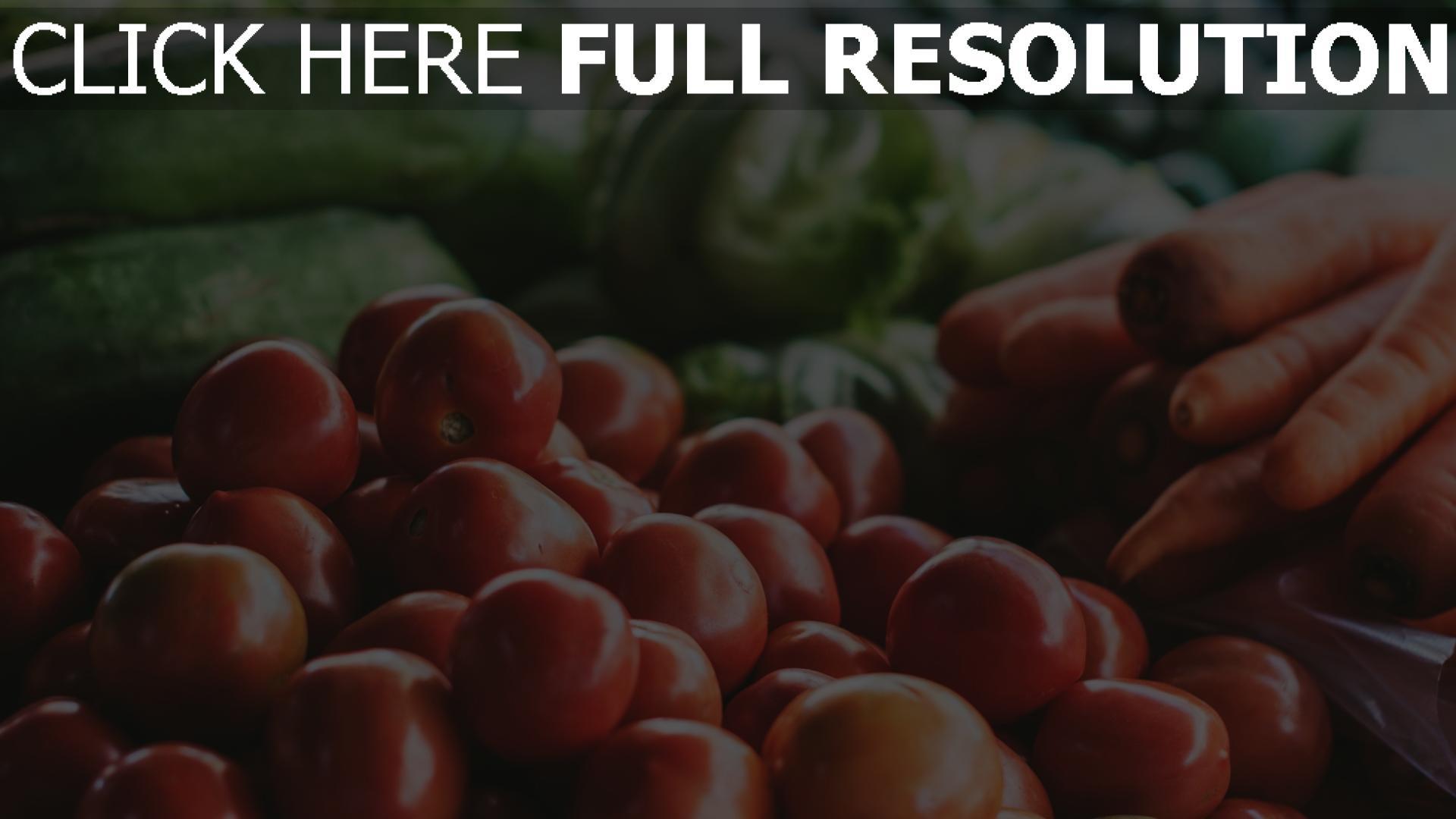 hd hintergrundbilder karotten kohl tomaten gemüse 1920x1080