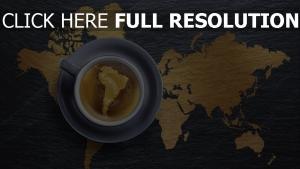 karte kaffee crema tasse untertasse