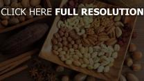 walnüsse pistazien cashew-nüsse erdnüsse