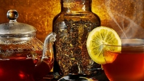 tee tasse wasserkocher zitrone glas