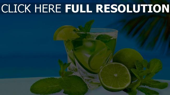 hd hintergrundbilder cocktail limette trinken minze